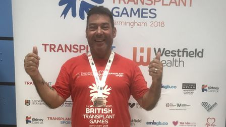 Lilley businessman and Team GB transplant athlete Dino Maroudias at the British Transplant Games in