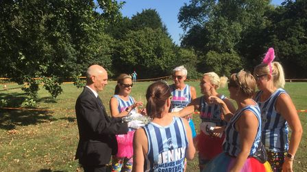 Prosecco at the Offley Place Posh 5km 2018. Picture: Burnt Hare Events