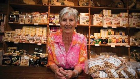 Pamela Jordan in the mill shop. Picture courtesy of Tony Darnell.