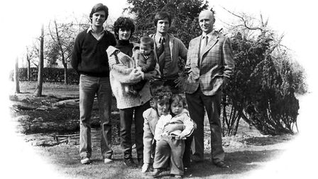 The Jordan family during the Eighties. Picture courtesy of Tony Darnell.