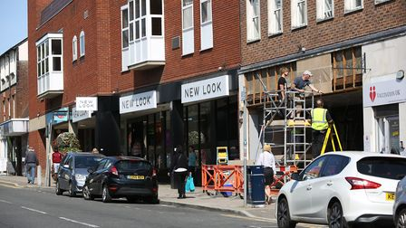Old and new: Argos, New Look and the site of the new Granello Lounge in Brand Street, Hitchin. Pictu
