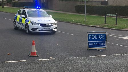 Lonsdale Road in Stevenage has been closed up to the junction with Vardon Road. Picture: Nick Gill