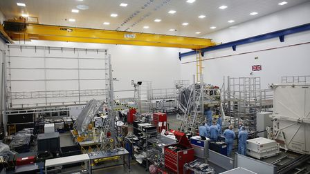 The European Space Agency's Solar Orbiter at Airbus in Stevenage ahead of its final testing stage in
