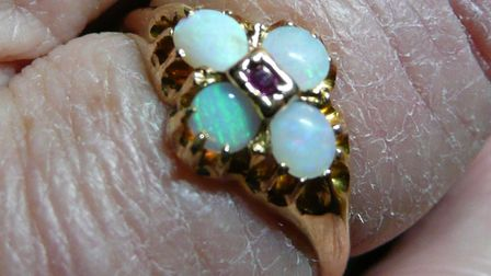 This opal ring, along with an engagement ring, was stolen from a home in Bush Spring, Baldock. Pictu