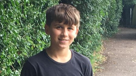 Bailey Taylor, 13, who stepped in to help when he found a man collapsed in Hitchin's Bancroft Recrea