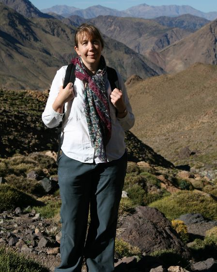 Lynda Corry during her six-week trek in Morocco. Picture: PHC
