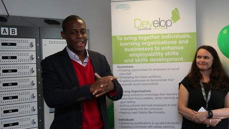 Hitchin and Harpenden MP Bim Afolami officially opens the Develop Hitchin centre with Develop chief