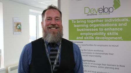 Develop chief executive Mark Pike at the opening of the Develop Hitchin learning centre. Picture: DA