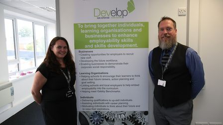 Develop chief executive Mark Pike and head of centre Johanne Kenlin at the opening of the Develop Hi