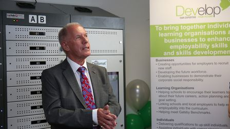 Develop chair Barry George at the Develop Hitchin centre opening. Picture: DANNY LOO