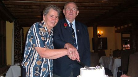Violet and Fred Udell when they celebrated their diamond wedding anniversary in 2007. Picture: Helen