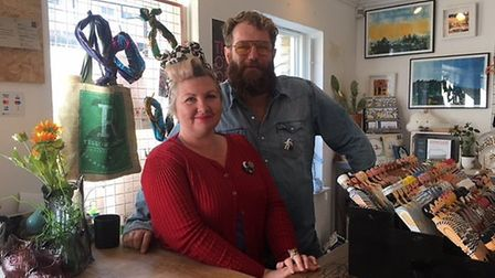 Paul Palmer and Kirsty Sinclair - owners of The Other One in Saffron Walden.