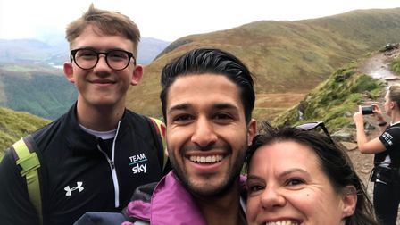 The team completed the Three Peaks challenge to raise money for Guide Dogs for the Blind. Picture: B