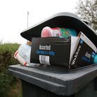 Evelyn Haley's food bin is regularly missed on collection day. Picture: DANNY LOO