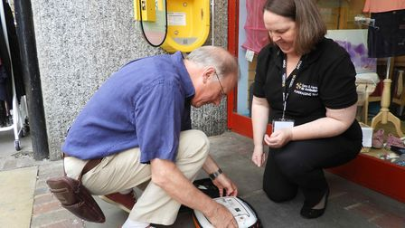The Essex & Herts Air Ambulance charity have installed a public access defibrillator outside their s