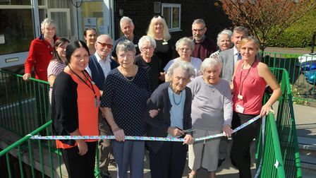 Howard Cottage staff and residents celebrated the opening of the Kingfisher Club at Macfadyen Webb H