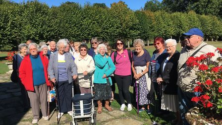 Walkers from Margaret House care home at St Paul's Walden Bury as part of the Stepping Out with Care
