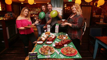 Rosso Lounge staff hold a Macmillan Cancer Support coffee morning. Picture: DANNY LOO