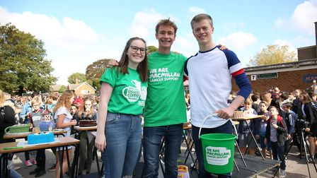 Knights Templar sixth form students organise a whole school Macmillan Cancer Support coffee morning.