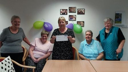Gladstone Court in Stevenage raised £800 for Macmillan Cancer Support at their coffee morning on Thu
