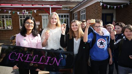 Knights Templar Crellin House students who brought in the most cakes for the Macmillan Cancer Suppor