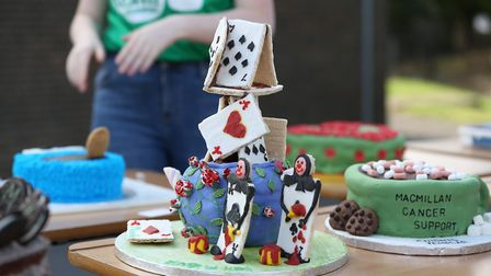 Showstopper cakes at the Knights Templar Macmillan Cancer Support coffee morning. Picture: DANNY LOO