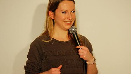Jenny Collier at Mostly Comedy in Hitchin. Picture: Gemma Poole
