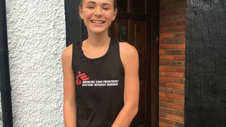 Hitchin's Phoebe Canell, 12, who spent her summer holidays running to raise money for Médecins Sans