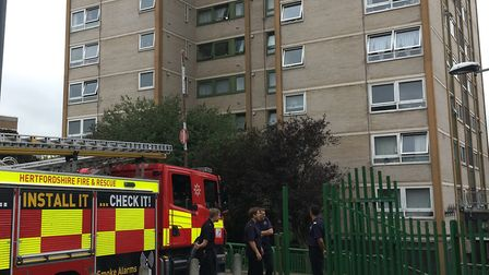 Firefighters at the Brent Court open day. Picture: Renu Chopra