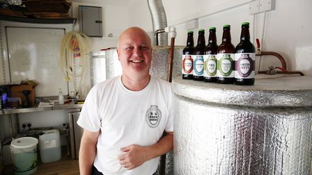 Owner Paul Clinton of Bog Brew Beers is happy to have been named in the Good Beer Guide. Picture: DA