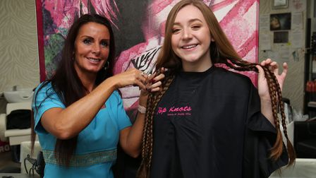 Carly Bays is raising money for Great Ormond Street Hospital by having her long hair chopped off and
