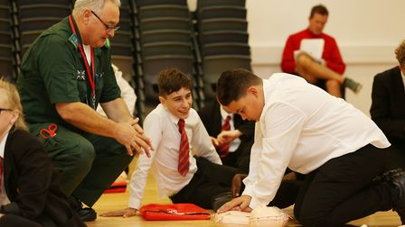 Marriotts School Year 8 students participate in the British Heart Foundation's Restart a Heart run b
