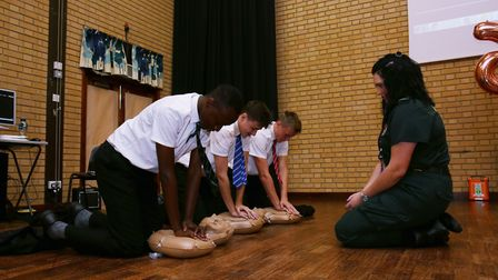 Fearnhill School years 10, 11 and sixth form students participate in the British Heart Foundation's