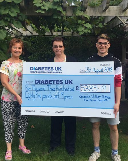 The money raised will go towards researtch, care services and campaigns for those living with diabet