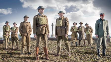 MESH Theatre's cast for Journey's End, which will be performed at Ypres in Belgium from October 10 t