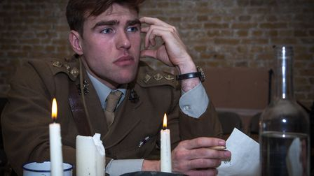 Tom Kay as Capt Stanhope in MESH Theatre's production of Journey's End, which will be performed at Y