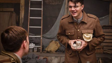 Alex Phelps as Second Lieutenant Raleigh in MESH Theatre's production of Journey's End, which will b