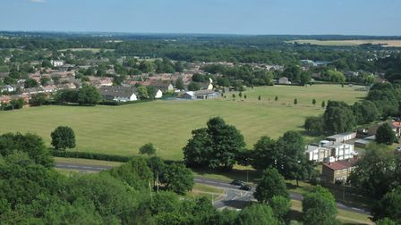 Looking over Stevenage, where a survey has indicated people are among the happiest in Britain. Pictu