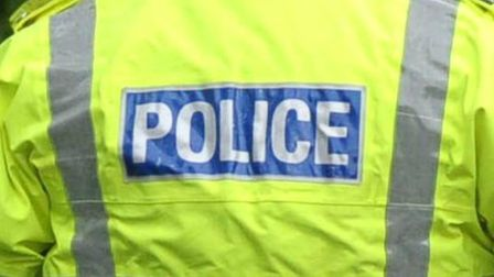 Grace Way in Stevenage was closed this morning after a single-car crash.