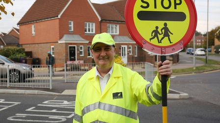 Round Diamond School crossing patrol person Terry Tyler. Picture: DANNY LOO