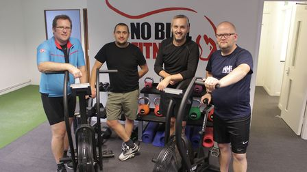 Andrew Lewis, Peter Slater, Glyn Doggett and Andrew Hall are all set for their 12-hour cycle challen