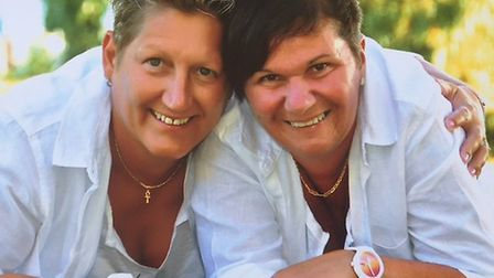 Michelle and Louise on their honeymoon just weeks before the diagnosis. Picture: Courtesy of Michell