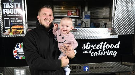 CCs street food and catering owner Shane Cole, pictured with eight-month-old son Carter, is appealin