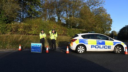Police have re-opened Martins Way, Stevenage. Picture: NICK JOHNS