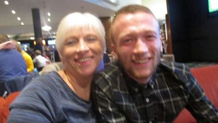Conor Spraggs with his mum Lisa. Picture courtesy of Shannon Johnson.