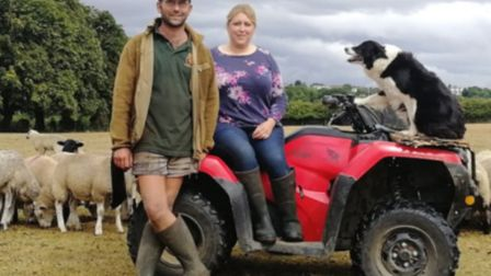 Dean and Katie Whybrow have won an award for their Fairfield farm. Picture: Central Bedfordshire Cou