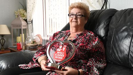 Mary Mitchell received an award from The Sun newspaper for her work with people with mental health p
