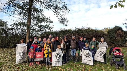 Around 28 volunteers turned up to help at the Biggleswade Big River Clean. Picture: Tanya Hill