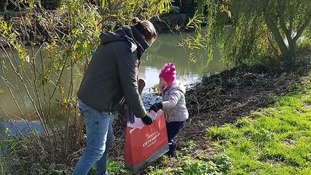 Volunteers collected 123kg of rubbish around Biggleswade's river Ivel on Sunday. Picture: Louise Pot