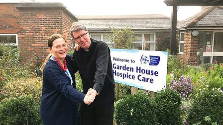 Rev Terrance Bell and his wife Sarah will be taking part in Garden House Hospice Care's Strictly Jiv